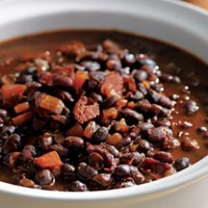 honey rum black beans