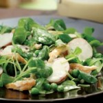 Thursday's BUZZworthy Recipe: Mache & Chicken Salad, Honey-Tahini Dressing