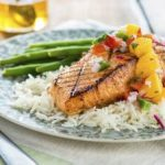 Thursday's BUZZworthy Recipe: Sweet Spicy Salmon with Honeyed Mango Salsa